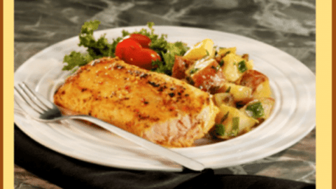 Applewood Smoked Salmon and Warm Potato-Apple Salad with Ale Dressing Recipe