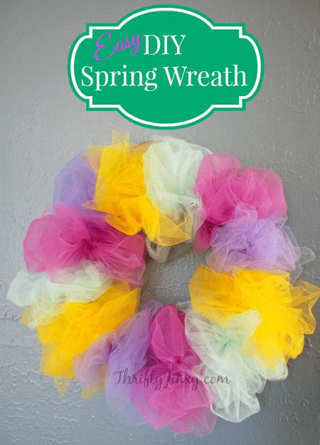 DIY Spring Tulle Wreath Craft