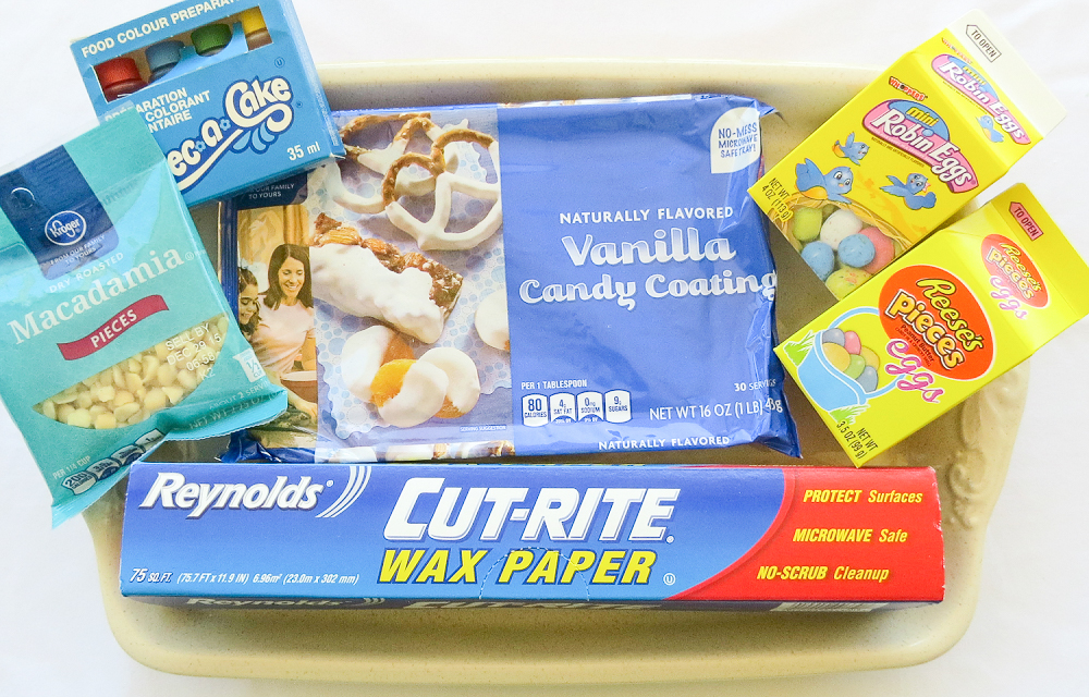 Easter Candy Macadamia Bark Ingredients