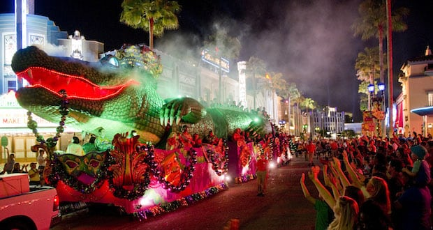 King Gator Float, Mardi Gras Universal Orlando