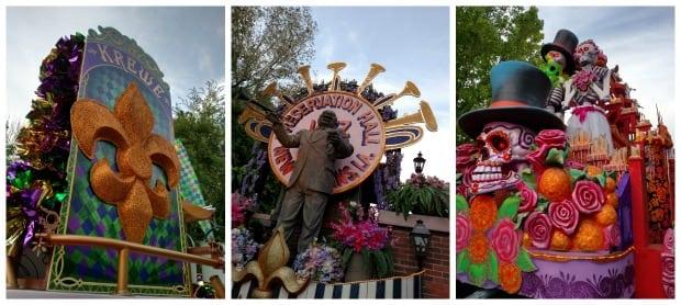 Mardi Gras Universal Orlando Parade Floats
