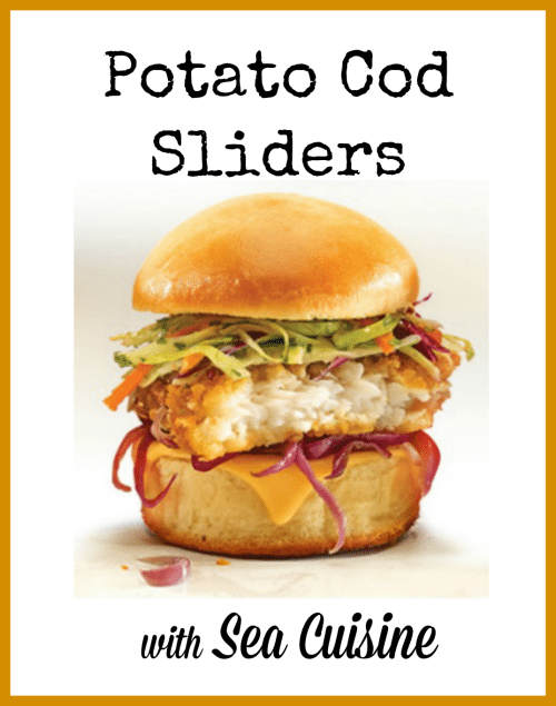 Potato Cod Sliders Recipe with Sea Cuisine
