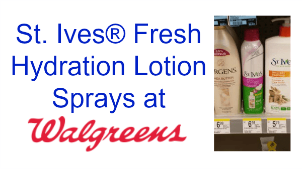St. Ives® Fresh Hydration Lotion Sprays at Walgreens