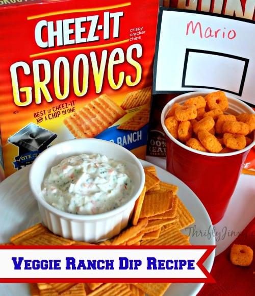 Veggie Ranch Dip Recipe #BigGameSnacks