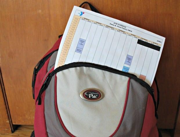 Backpack Schedule