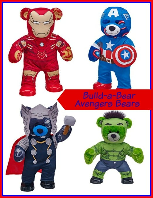 Build-a-Bear Avengers Bears