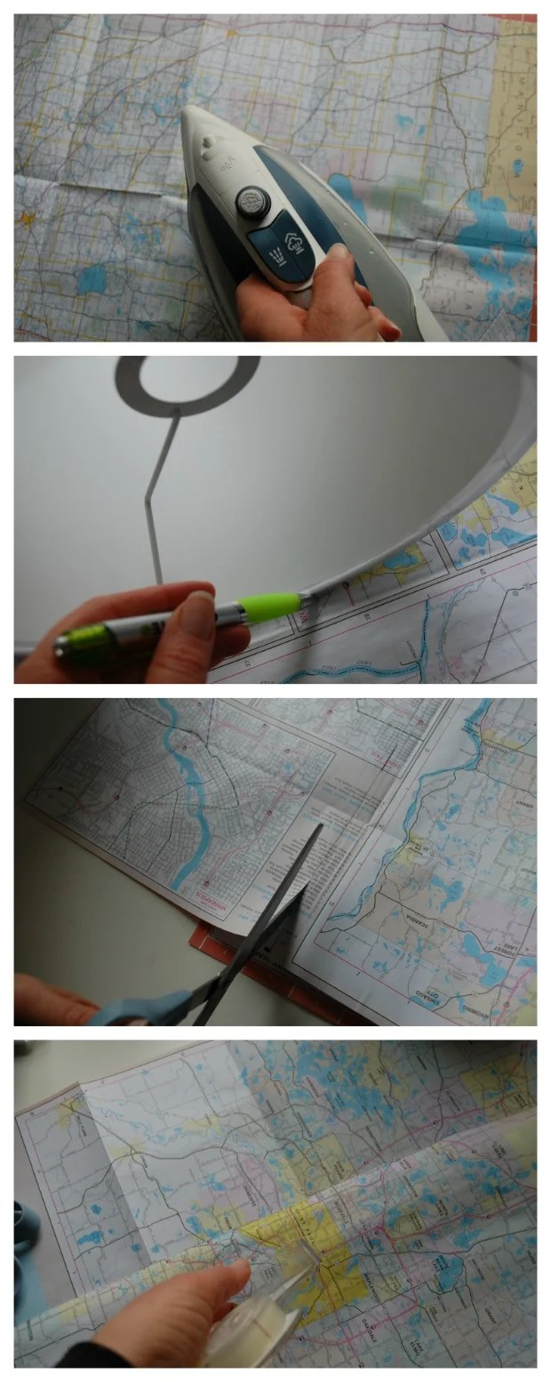 DIY Map Lamp Makeover Instructions