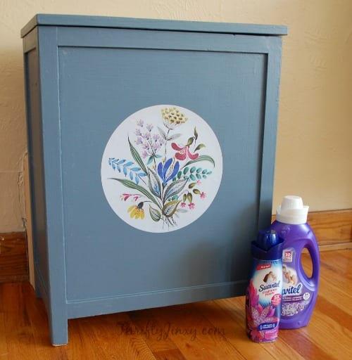 DIY Wooden Laundry Hamper Makeover Project