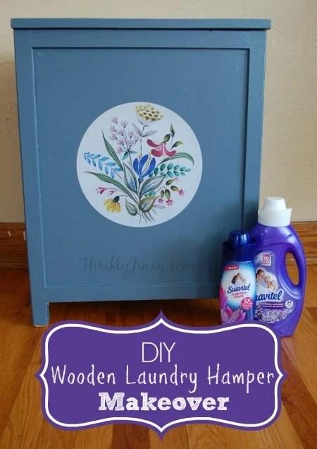 DIY Wooden Laundry Hamper Makeover