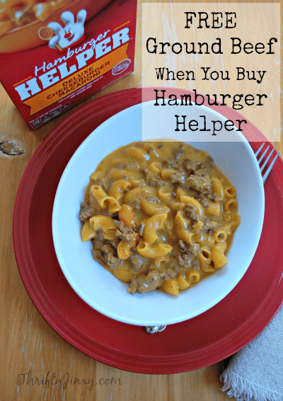 Free Ground Beef When You Buy Hamburger Helper