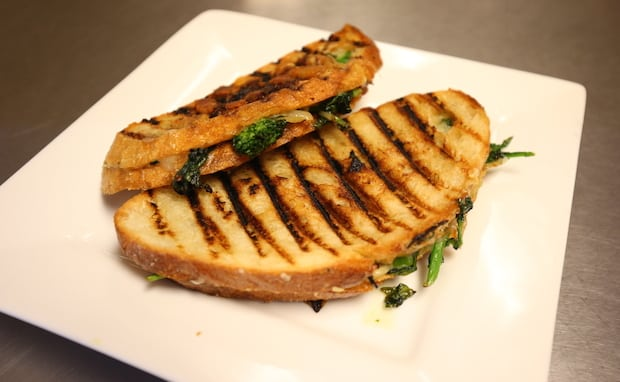 Grilled Cheese with Caramelized Broccoli Rabe and Fontina - Photo Credit: Adam Bettcher for Macy's