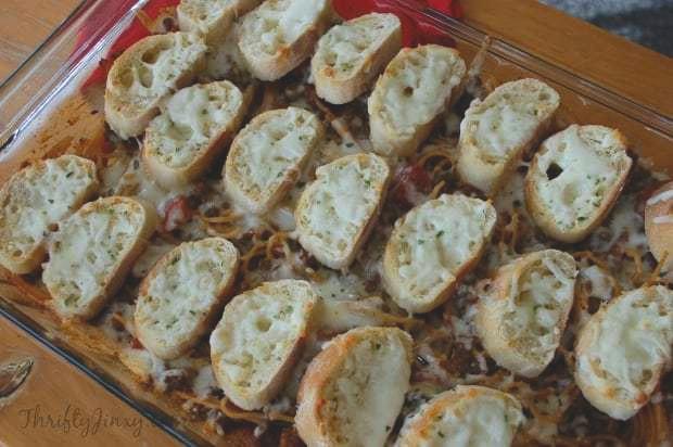 Spaghetti-Garlic-Bread-Bake