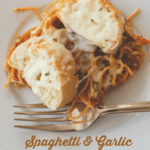 SPAGHETTI AND GARLIC BREAD BAKE RECIPE