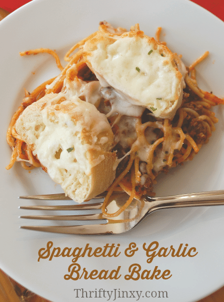 SPAGHETTI AND GARLIC BREAD BAKE RECIPE