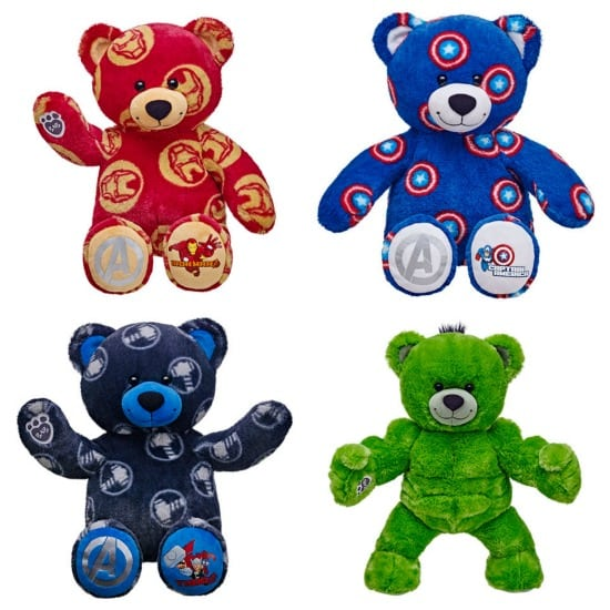 Thor Bear, Captain America Bear, Hulk Bear and Iron Man BearS