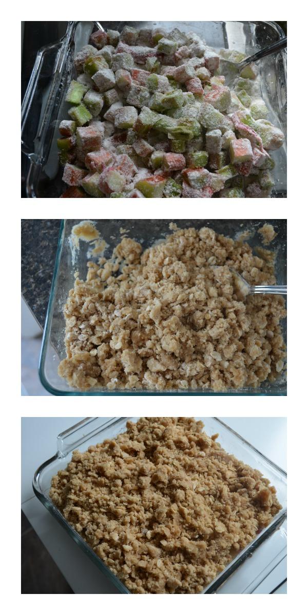 Classic Rhubarb Crisp Recipe Process