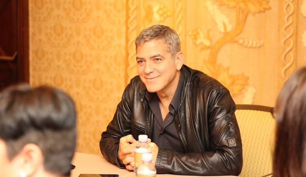 George Clooney Interview Table