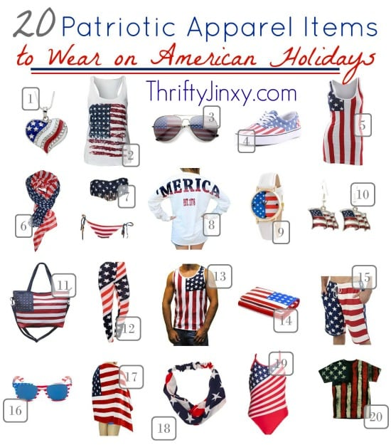 20 Patriotic Apparel Items to Wear on American Holidays