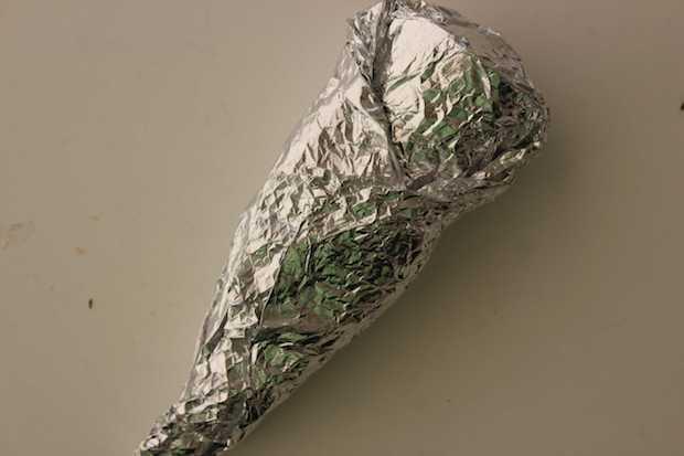 S'mores Cones Recipe Foil