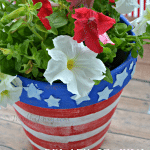 DIY 4th of July Flower Pot Craft Project