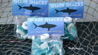 DIY Shark Snacks with Free Printable Labels