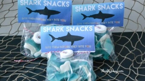 DIY Shark Snacks with Free Printable Labels