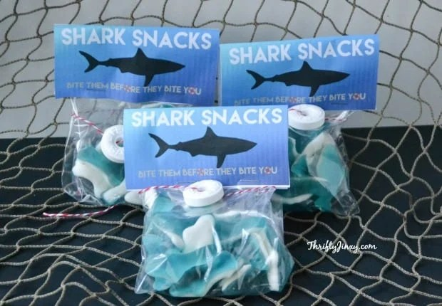DIY Shark Snacks with Printable Labels