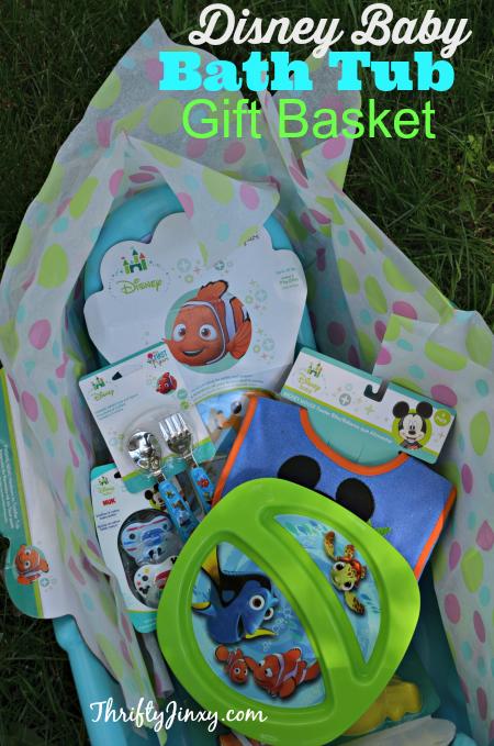 Disney Baby Bath Tub Gift Basket DIY