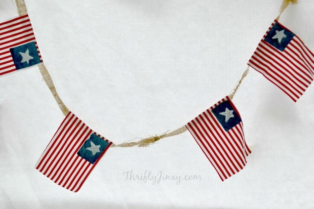 No Sew 4th of July Flag Bunting Original