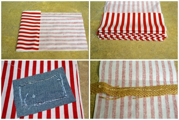 No Sew 4th of July Flag Bunting Piece Together