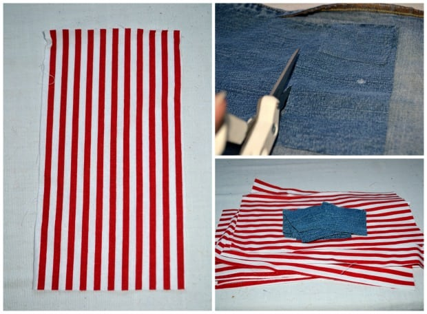 No Sew 4th of July Flag Bunting Process Start