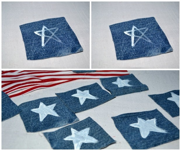No Sew 4th of July Flag Bunting Stars
