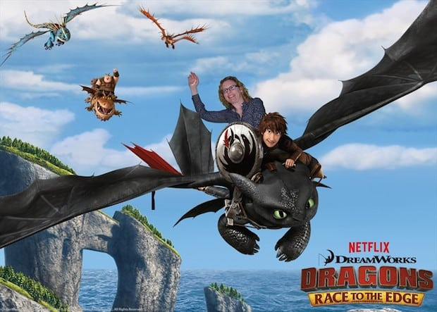 Riding Toothless Dragon