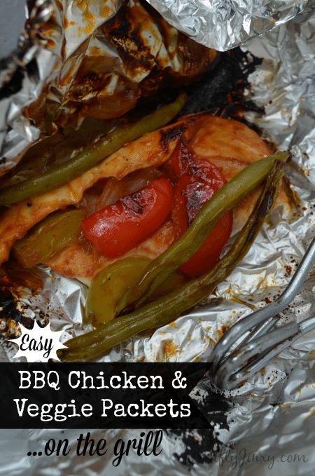 BBQ Chicken and Veggie Packets Recipe