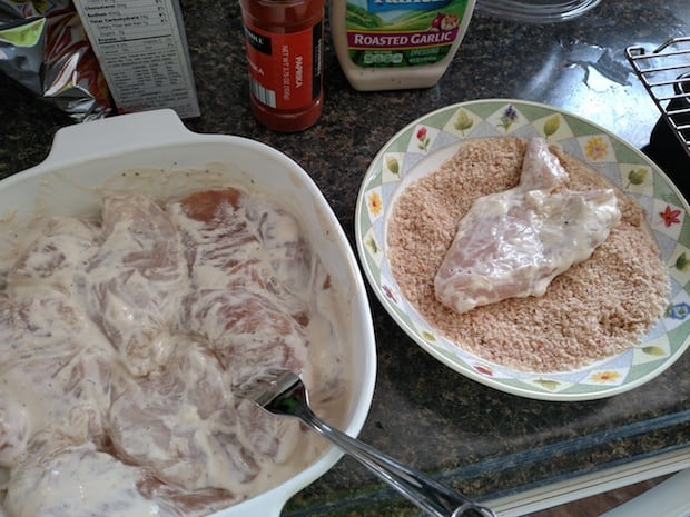 Crispy Garlic Ranch Chicken Recipe Coating