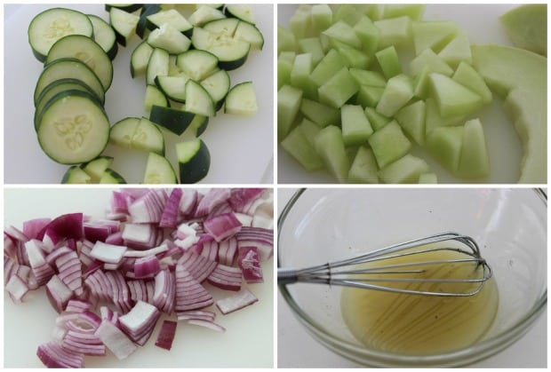 Cucumber Honeydew Salad Recipe Process
