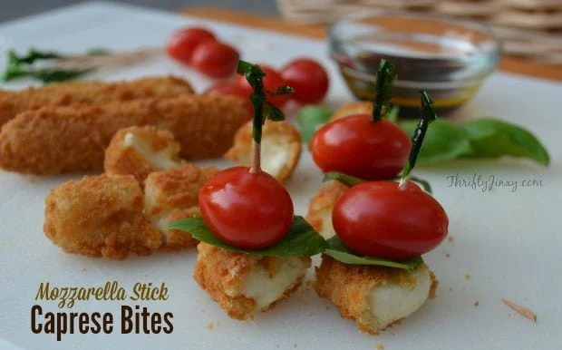 Mozzarella Stick Caprese Bites Recipe