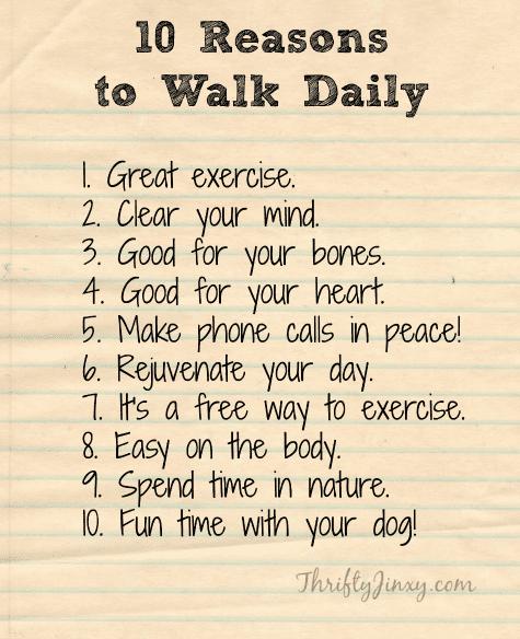 Reasons to Walk Daily