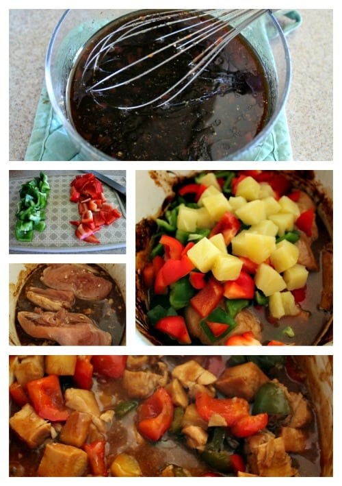 Slow Cooker Sweet and Sour Chicken Recipe Process