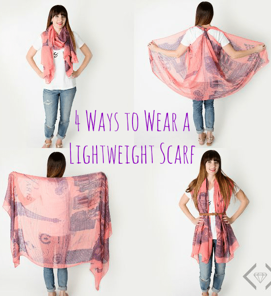 4 Ways to Wear a Lightweight Scarf