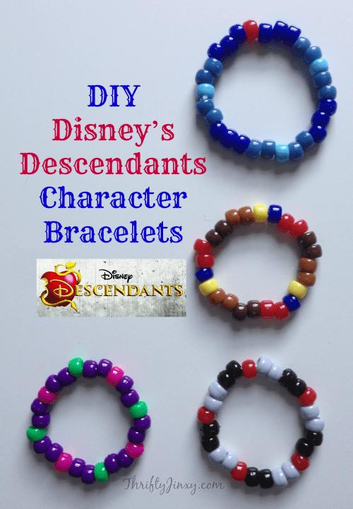 DIY Disney's Descendants Character Bracelets Craft - Thrifty