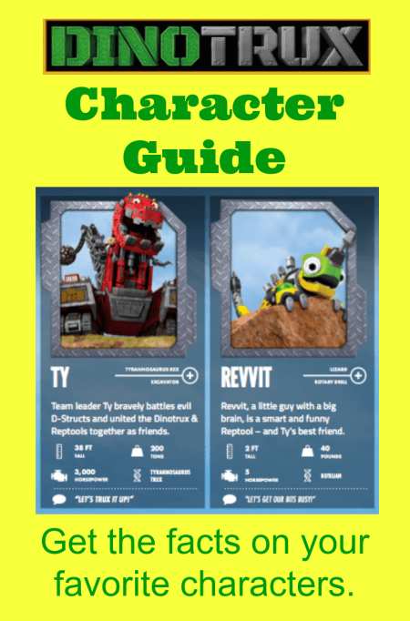 Dinotrux Character Guide