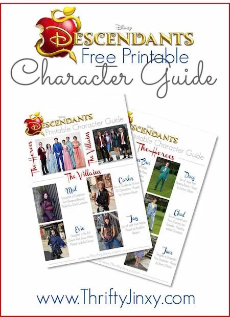 Disney Descendants Character Guide