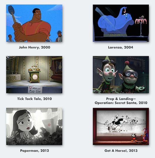 Disney animated short films