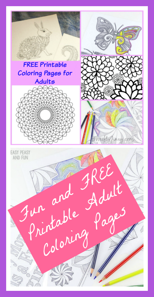 Who says coloring is for kids? These FREE Printable Coloring Pages for Adults are a great way to relax and engage your artistic expression.