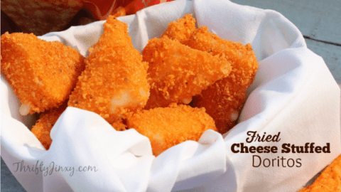 Fried Cheese Stuffed Doritos