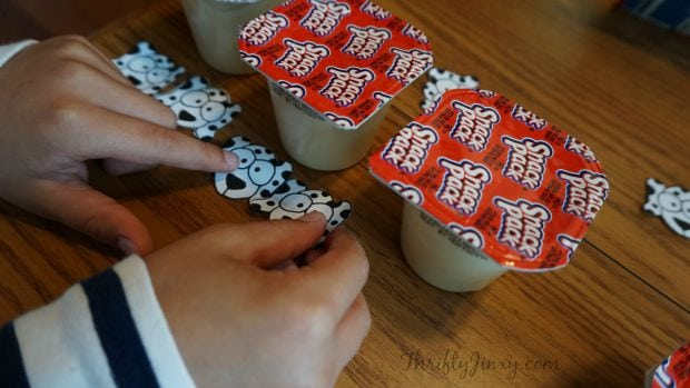 Making Snack Pack Dalmatians
