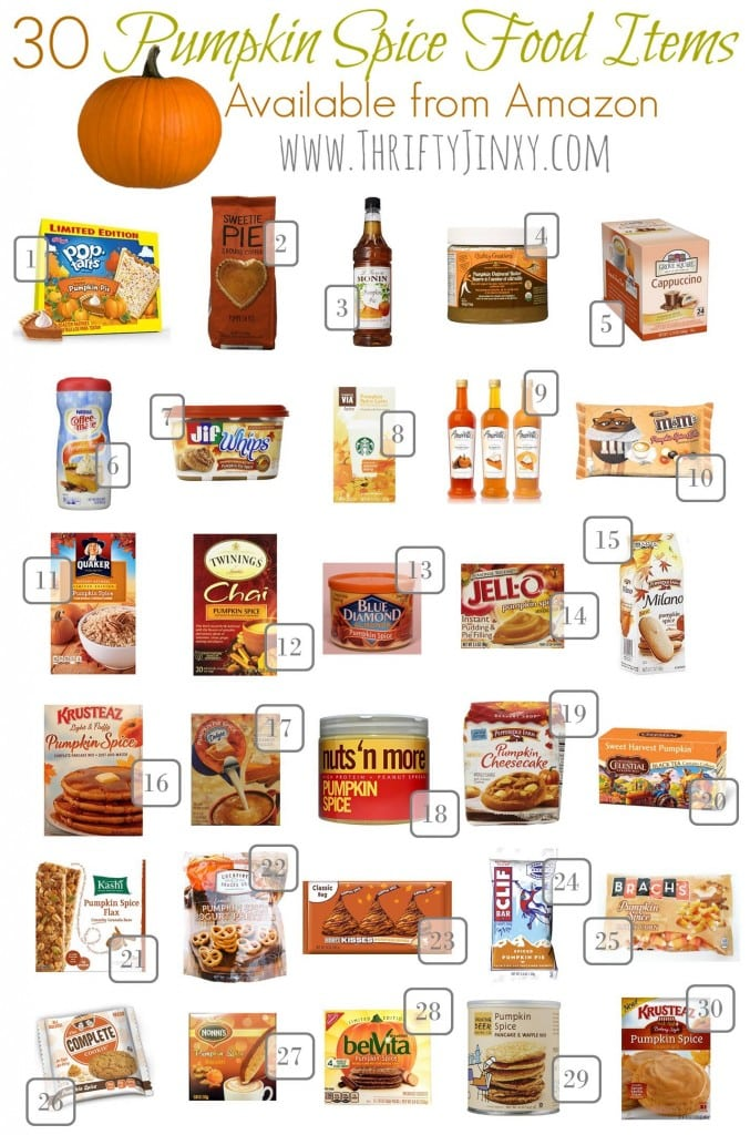 9.11 Round Up - 30 Pumpkin Spice Food Items on Amazon TJ VERTICAL