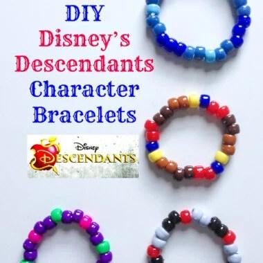 DIY Disney Descendants Character Bracelets Craft
