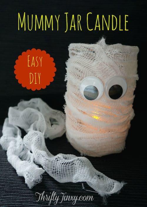 Mummy Jar Candle DIY